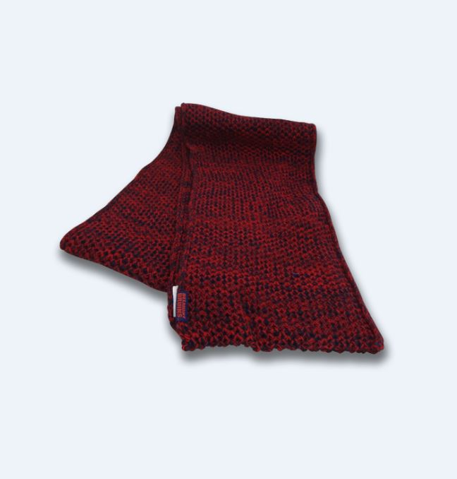 SCARF-RED/NVY MULTI BRUIN