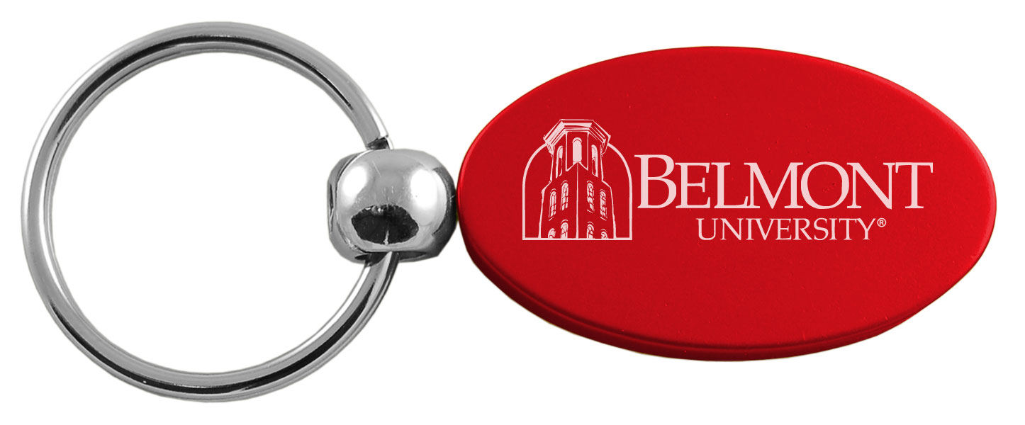 Image For RED OVAL KEY TAG