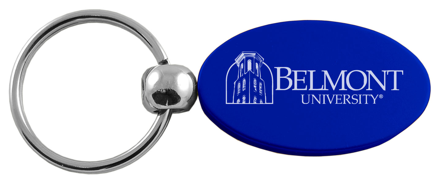 Image For BLUE OVAL KEY TAG