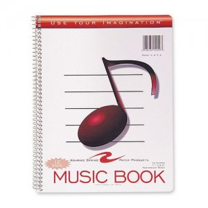 Image For 12 STAVES MUSIC NOTEBOOK