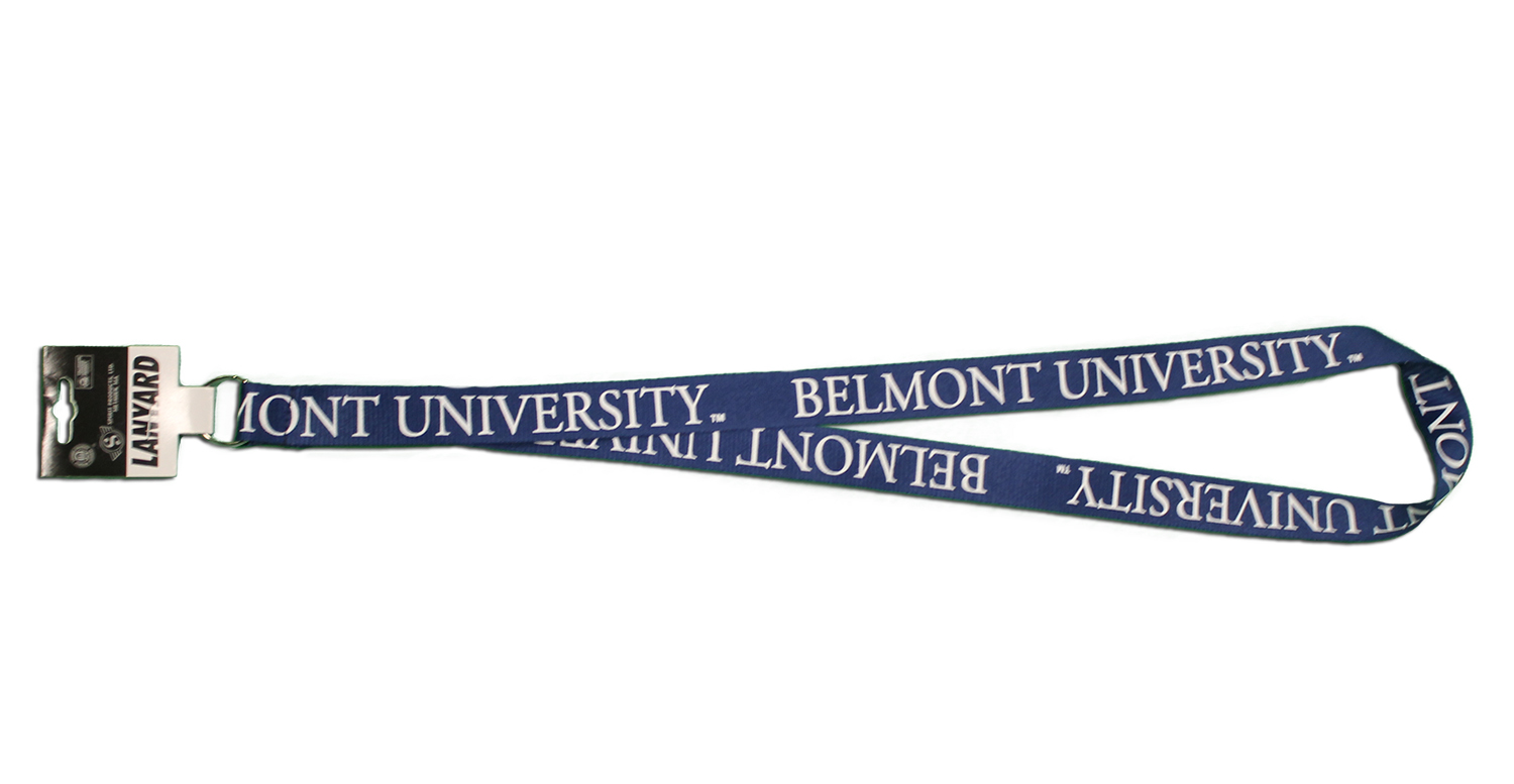 Image For SPIRIT LANYARD-NAVY & WHITE