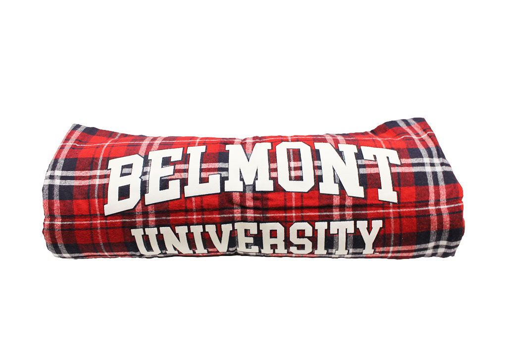 Image For BLANKET- FLANNEL NAVY & RED