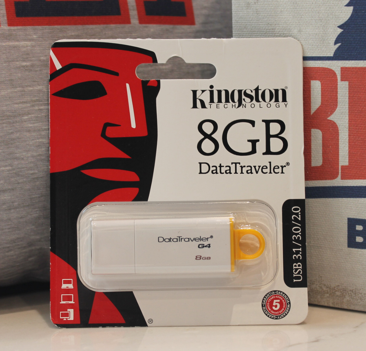 Image For KINGSTON FLASH DRIVE-8GB