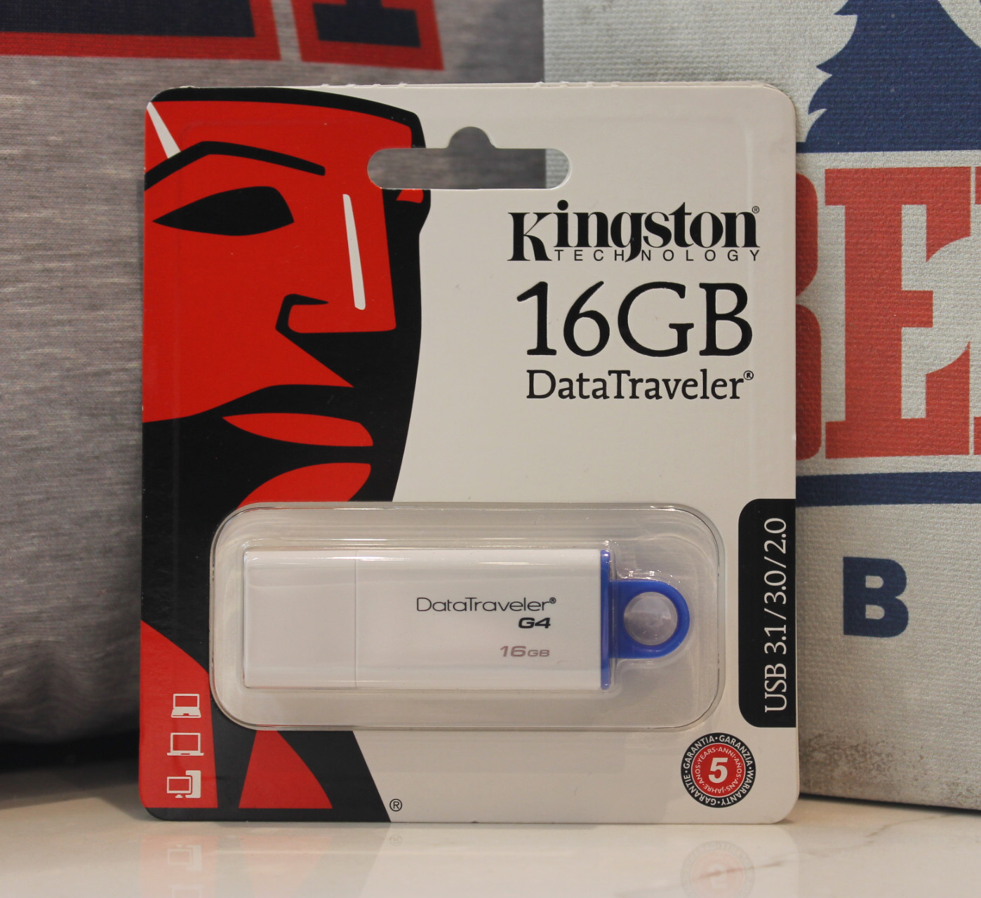Image For KINGSTON FLASH DRIVE-16GB